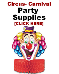 Party Supplies for Circus and Carnival Theme
