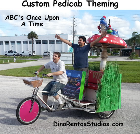 Comic con pedicab marketing & advertising