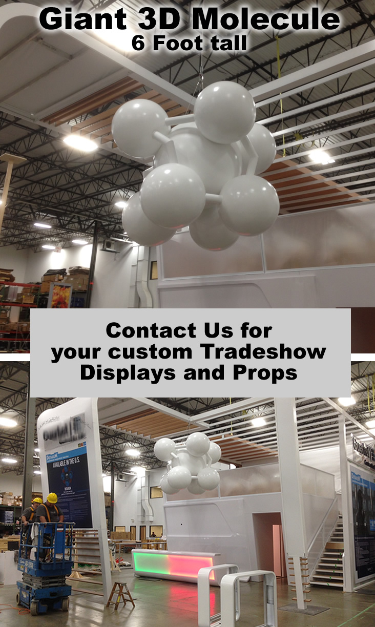 Giant Custom Made Tradeshow Props, Displays and Decor