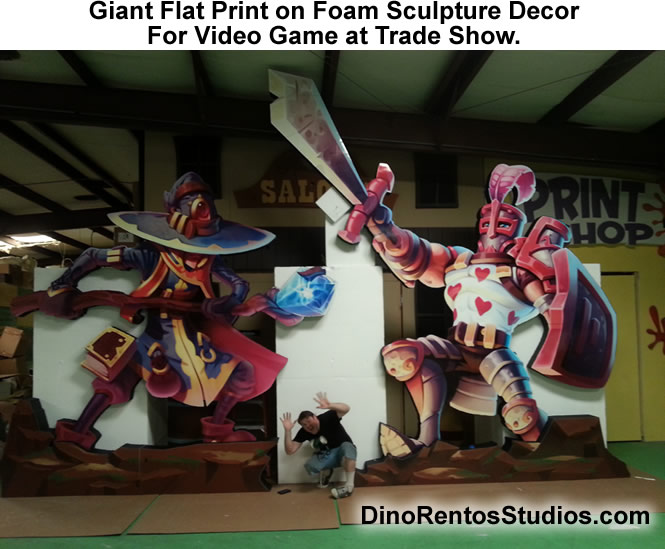 Giant Foam Sculptures for Trade Show Display-Booth