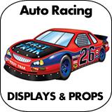 Auto Racing Cardboard Cutout Standup Props