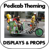 Pedicab Theming - Decorating - Advertising - Marketing Props
