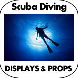 Scuba Diving Cardboard Cutout Standup Props