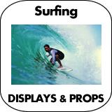 Surfing Cardboard Cutout Standup Props