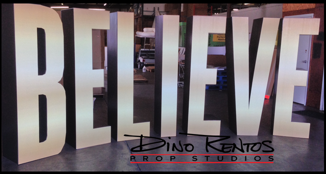 3D Cardboard Letters for stage displays and props