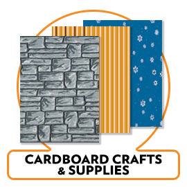 CARDBOARD CRAFTING SUPPLIES