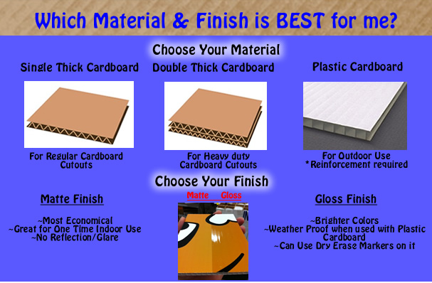 cardboard substrate type materials and finish