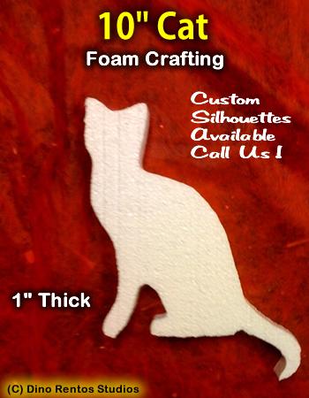 10 Inch Cat Foam Shape Silhouette