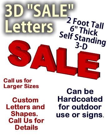 """24 Inch Foam """"SALE"""" Letters"""
