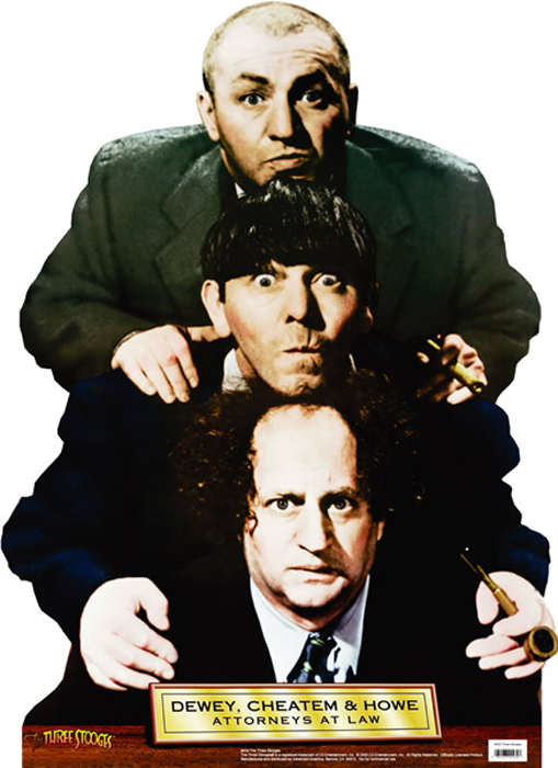 Dewey, Chetum, and Howe - The Three Stooges Cardboard Cutout Standup Prop