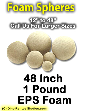 EPS Foam  Sphere 48 Inch - 1 lb Density