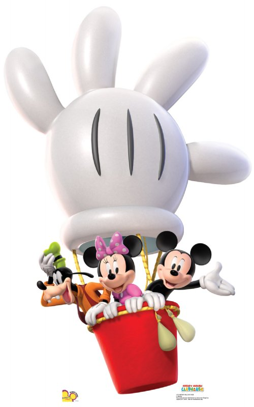 Mickey Balloon Ride - Mickey Mouse Clubhouse Cardboard Cutout Standup Prop