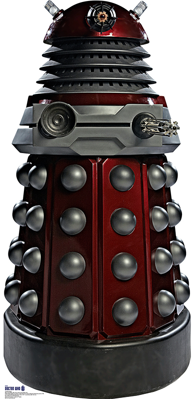 Red Dalek - Doctor Who Cardboard Cutout Standup Prop