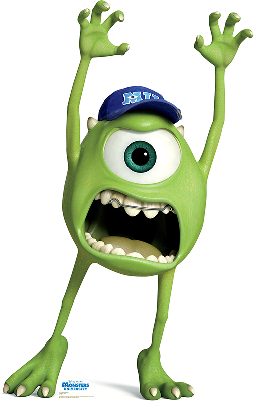 Mike Wazowski - Monsters University Cardboard Cutout Standup Prop