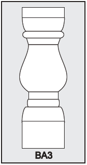 BA3 - Architectural Foam Shape - Baluster