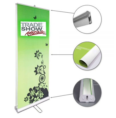 """Double Sided Roll Up Banner Stand-33"""" Width"""