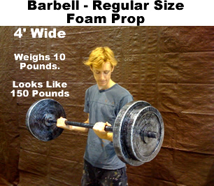 Foam Barbell Prop - Regular Size