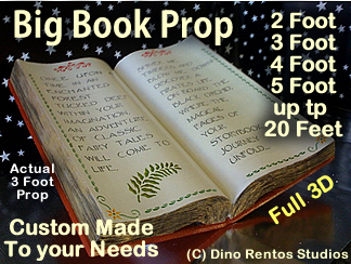 Giant/Big Foam Book Prop - Custom Made Any Size