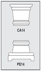Foam-CA1-PE1 - Architectural Foam Shape - Capital & Pedestal