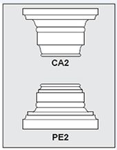 CA2-PE2 - Architectural Foam Shape - Capital & Pedestal