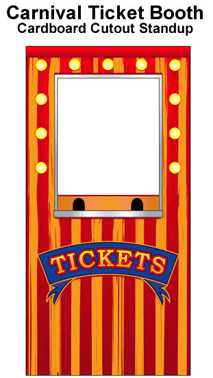 Carnival Ticket Booth Photo Cardboard Cutout Standup Prop