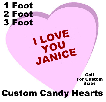 Custom Candy Heart Foam Display Prop