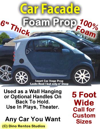 Car Facade Foam Prop Display