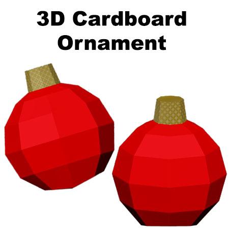 3D Cardboard Ornament