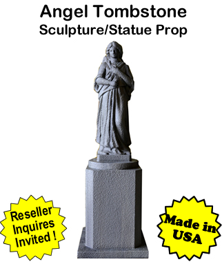 Tombstone Angel Sculpture Statue Prop