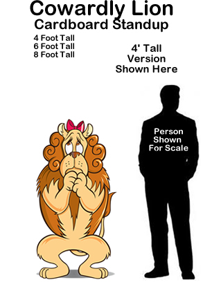 Cowardly Lion - Wizard of Oz Cardboard Cutout Standup Prop