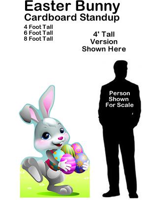 Easter Bunny Cardboard Cutout Standup Prop