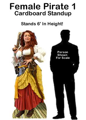 Female Pirate 1 Cardboard Cutout Standup Prop