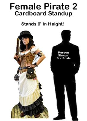 Female Pirate 2 Cardboard Cutout Standup Prop