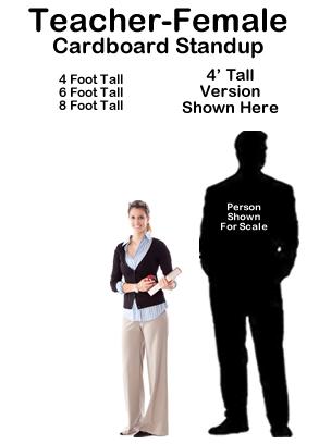 Teacher Female Cardboard Cutout Standup Prop