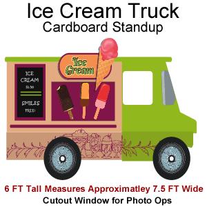 Ice Cream Truck Cardboard Cutout Standup Prop