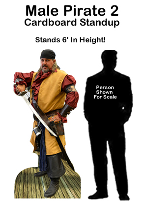 Male Pirate 2 Cardboard Cutout Standup Prop