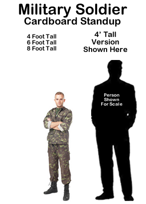 Military Soldier Cardboard Cutout Standup Prop