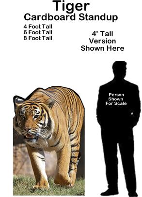 Tiger Cardboard Cutout Standup Display Prop