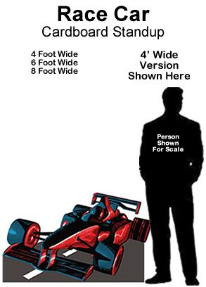 Race Car Cardboard Cutout Standup Prop