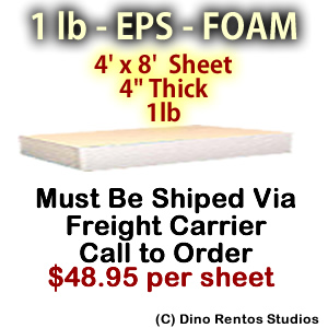 EPS Foam Sheet - 1 lb Density - 48x96x4