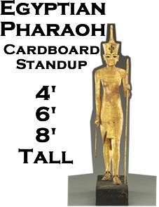 Egyptian Pharaoh Cardboard Cutout Standup Prop