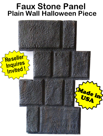 Faux Stone Panel Plain Wall-1 Halloween