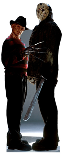 Freddy vs. Jason - Halloween Cardboard Cutout Standup Prop