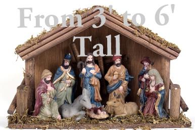 Full Nativity Scene Cardboard Cutout Standup Prop