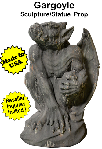 Gargoyle Foam and Concrete Sculpture/Statue Prop
