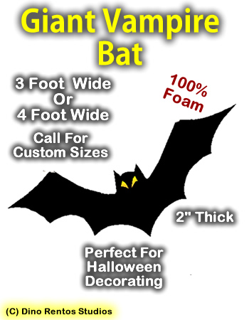 Giant Bat Foam Prop