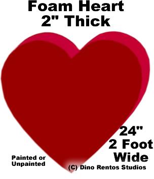 """Foam Heart Prop - 24"""" Wide"""