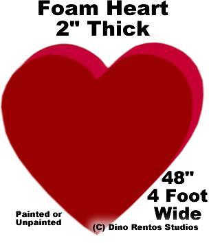 """Foam Heart Prop - 48"""" Wide"""