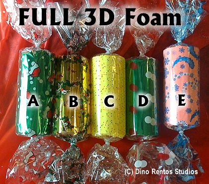 1 Foot Holiday Candy 3D Foam Prop Kit
