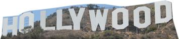 Hollywood Sign Cardboard Cutout Prop